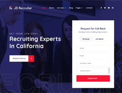 Agency Joomla Template - JD Recruiter