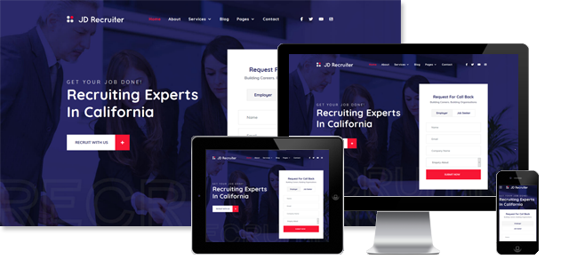 JD Recruiter - Agency Joomla Template