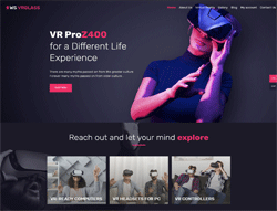 Virtual Woocommerce WordPress theme - WS VRGlass