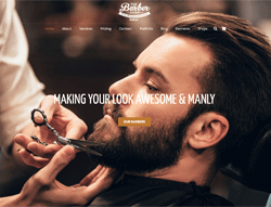 Barber and Hair Salon WordPress Theme - Jeds