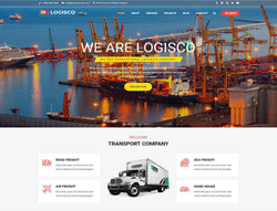 Logistics WordPress Theme - Logisco