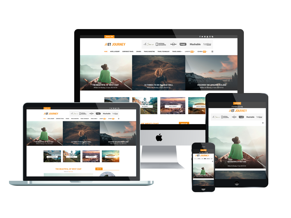 News Joomla Template Layout