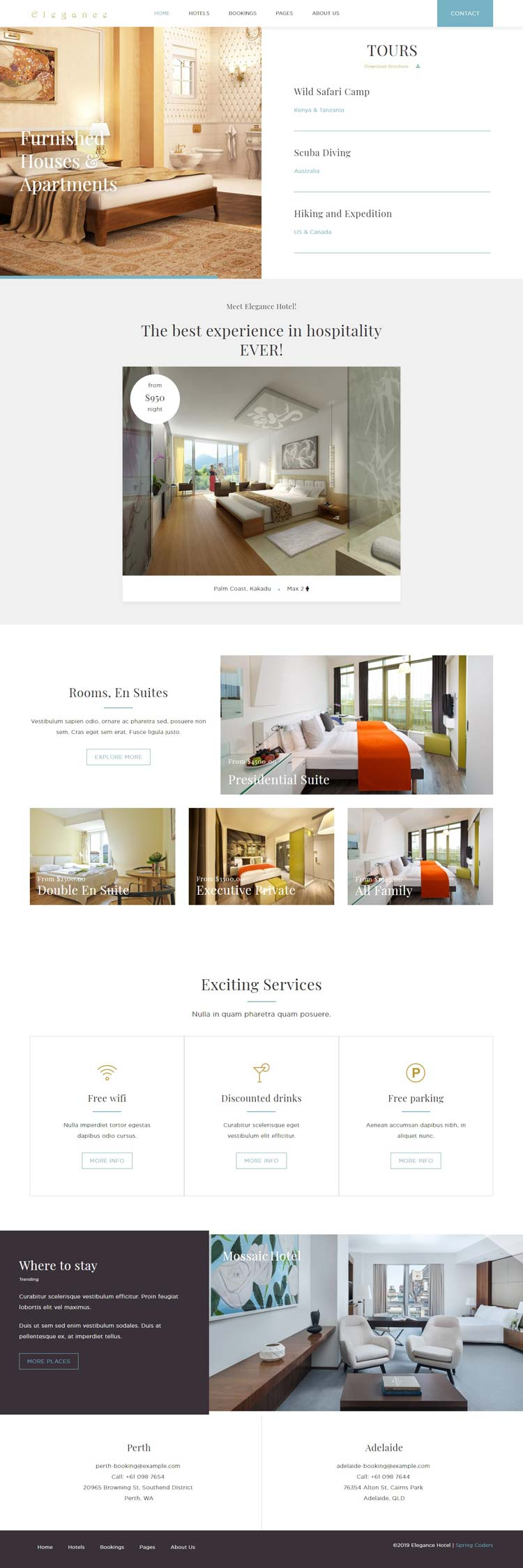 Hotel and Resort Joomla Template