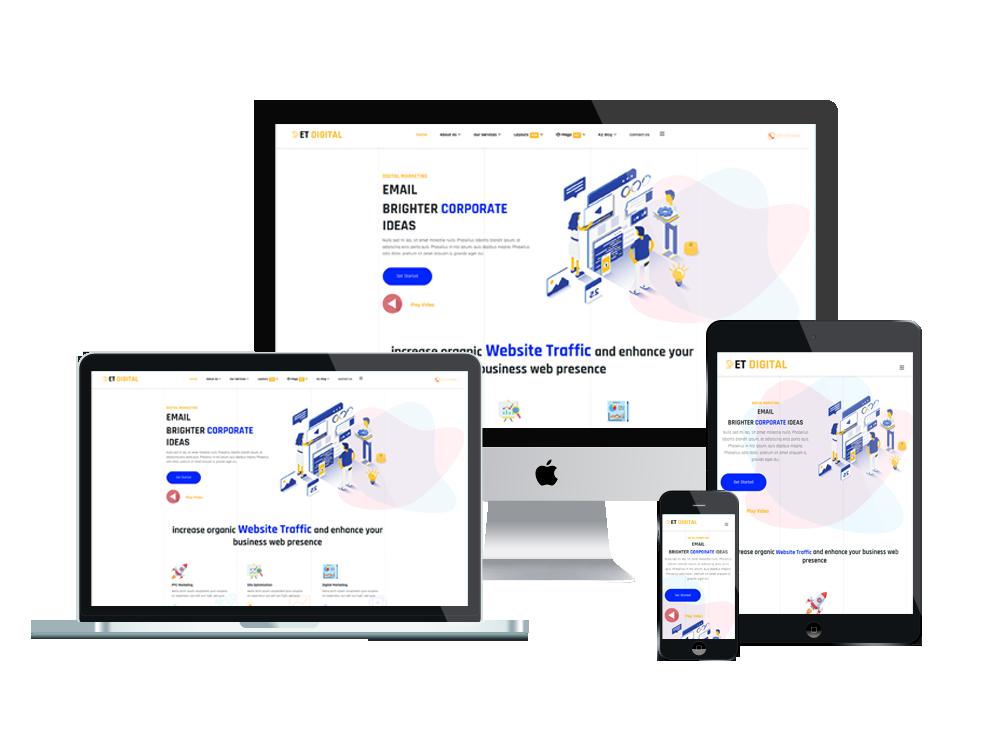 Marketing Company Joomla Template Layout