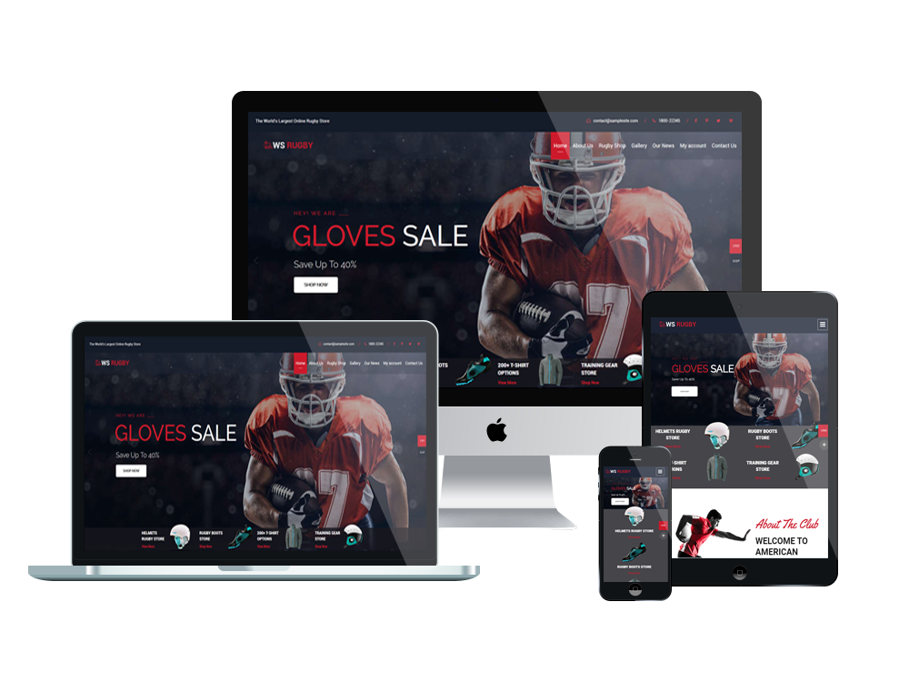 Football Wordpress mobile theme