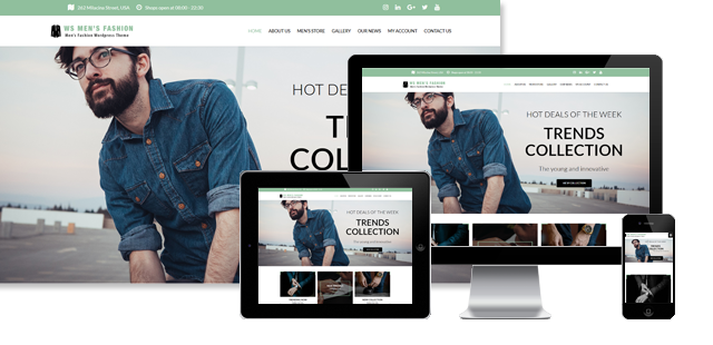 WS Men Fashion - Fashion WooCommerce WordPress Theme