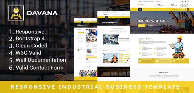Responsive Industrial Business Html Template