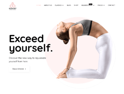 Yoga Studio Joomla Template - JD YogaHut