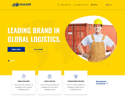 Transportation Services Joomla Template - JD Haulage