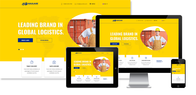 JD Haulage - Transportation Services Joomla Template