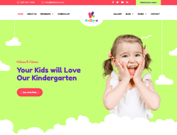 Kindergarten and Pre-School Joomla Template - JD KidZone