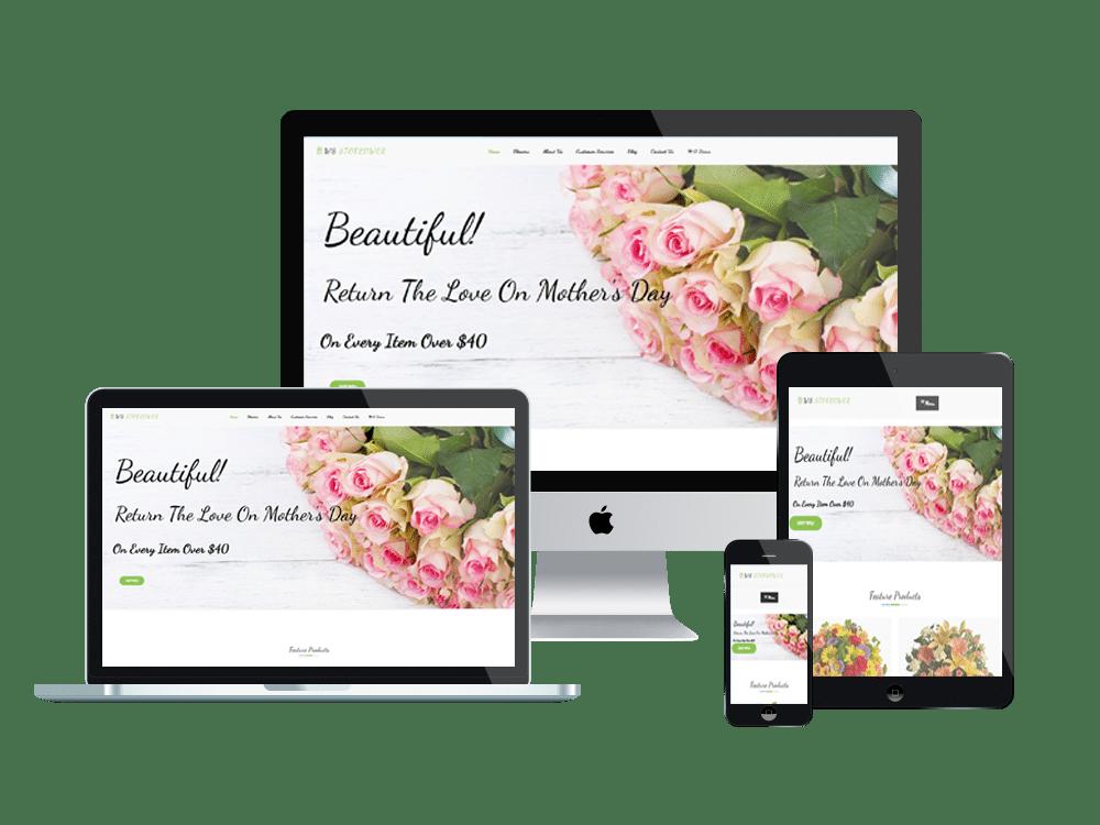 Flowers Wordpress mobile theme