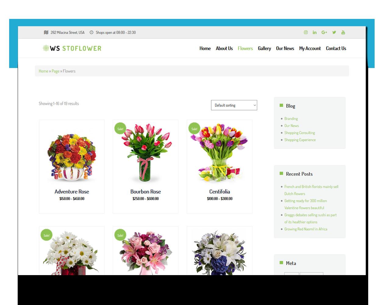 Flowers free theme