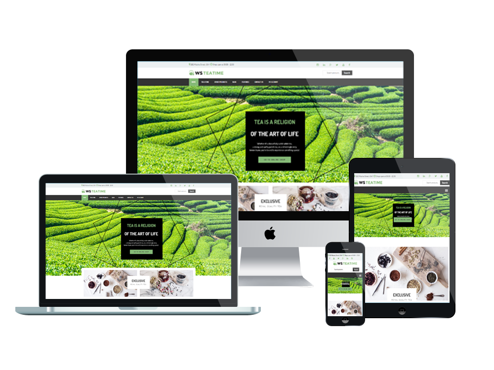 Tea Shop Wordpress mobile theme