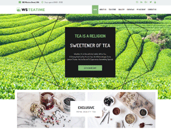 Tea Shop WordPress theme - WS TeaTime