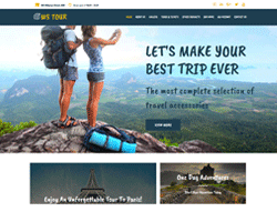 Travel Booking WordPress theme - WS Tour