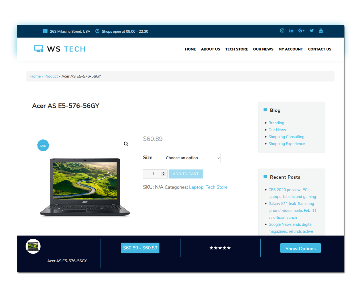 Tech Product Page