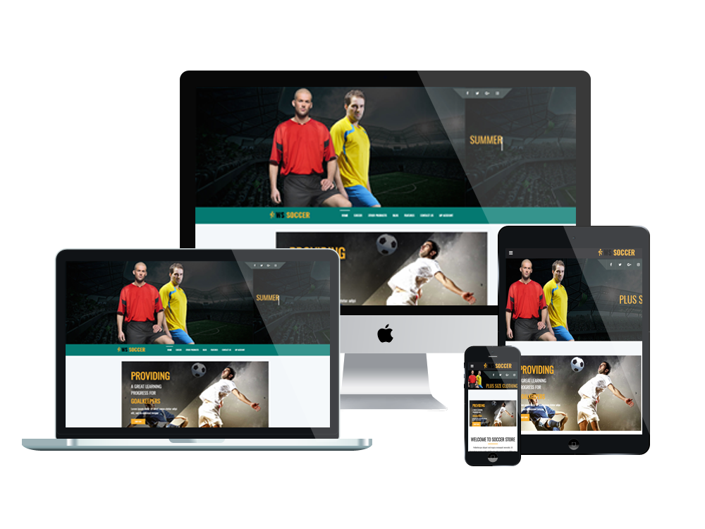 Soccer Wordpress mobile theme