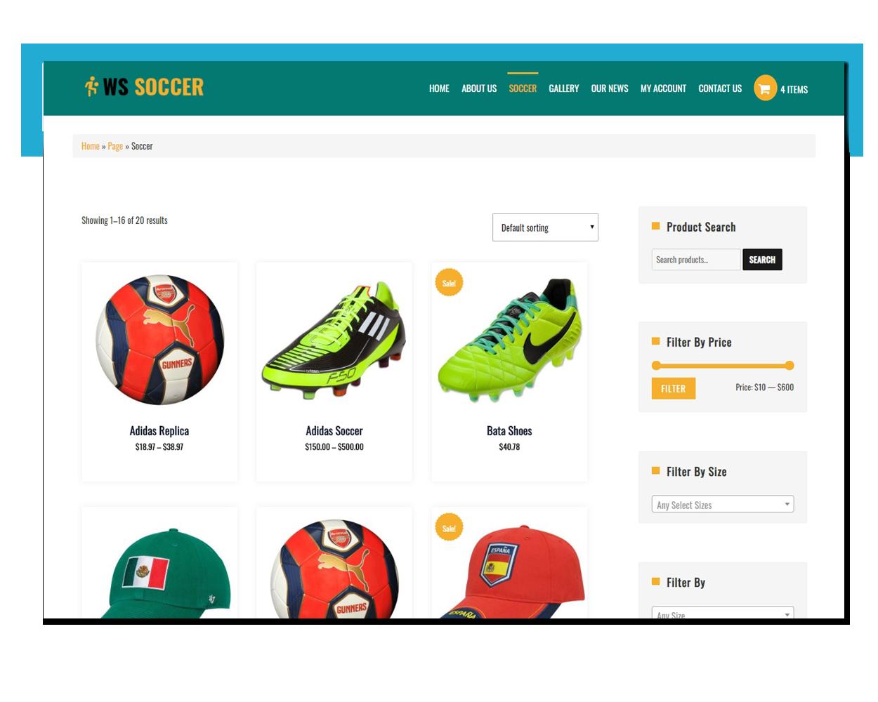 Soccer free theme