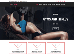 Fitness Equipment WooCommerce WordPress Theme - WS Sport