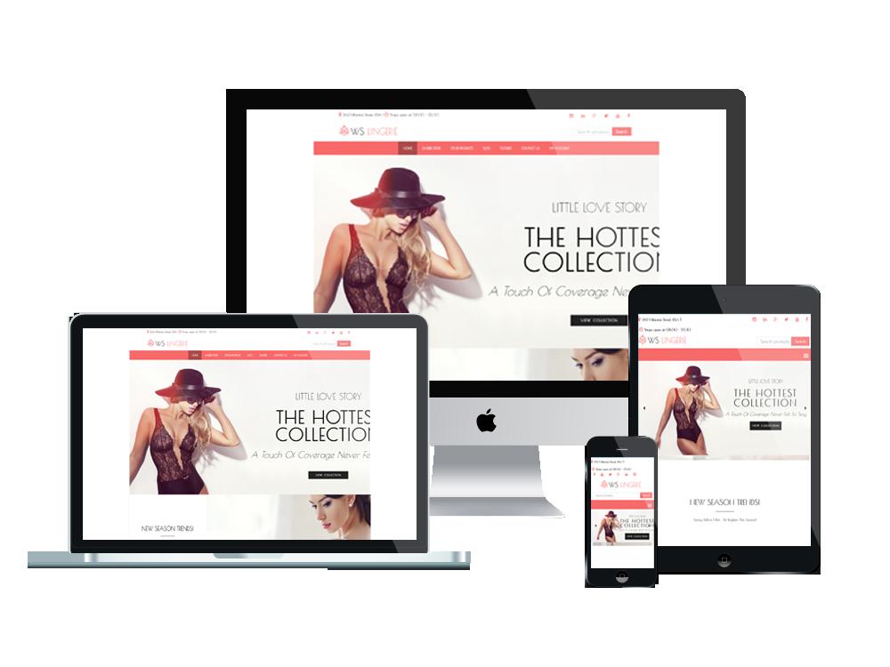 Lingerie Wordpress mobile theme