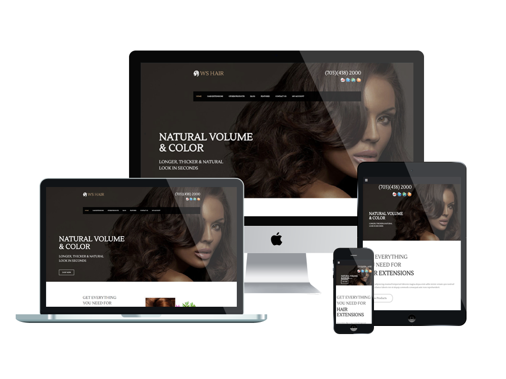 Spa Salon Wordpress mobile theme
