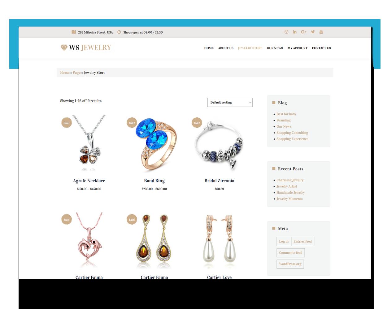 Jewelry free theme