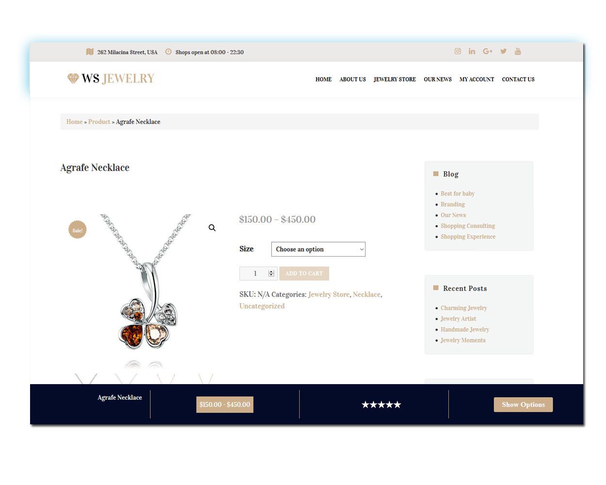 Jewelry Product Page
