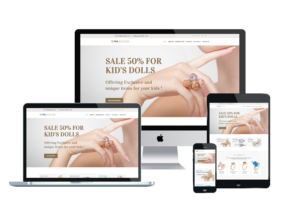 Jewelry Wordpress mobile theme