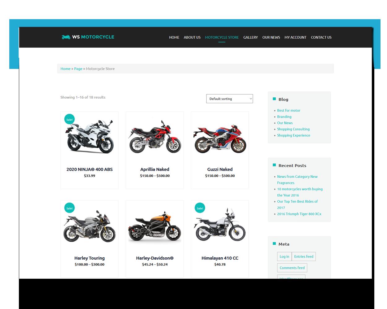 MotorBike free theme