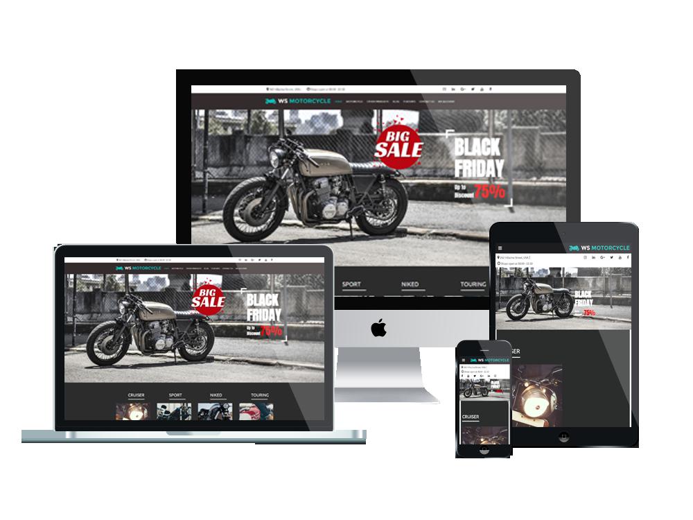MotorBike Wordpress mobile theme