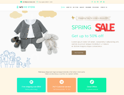 Children Store WooCommerce WordPress Theme - WS Kid