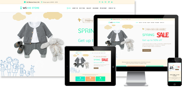 WS Kid - Children Store WooCommerce WordPress Theme