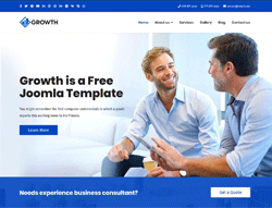 Consulting Business Joomla Template - JB Growth