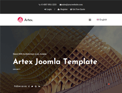 Architecture & Interior Design Joomla Template  - Artex