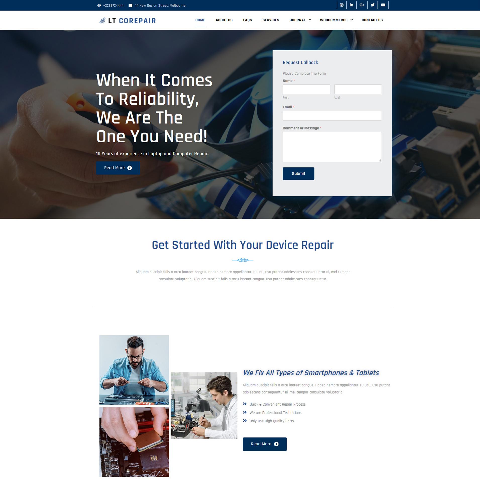 Device Repair WordPress Theme