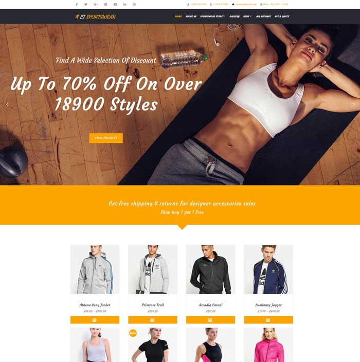 Sportswear WordPress Theme