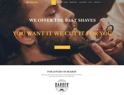 Barber Shop WordPress Theme - LT Perook