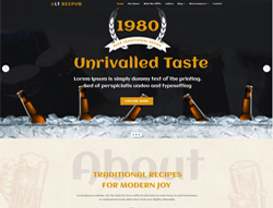 Restaurant WordPress Theme - LT Beepub