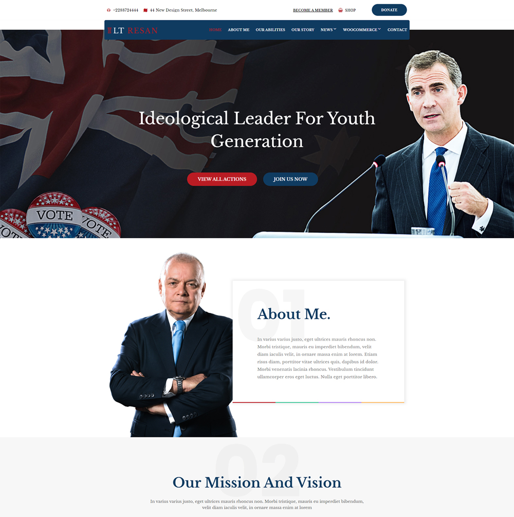 Resan Wordpress theme