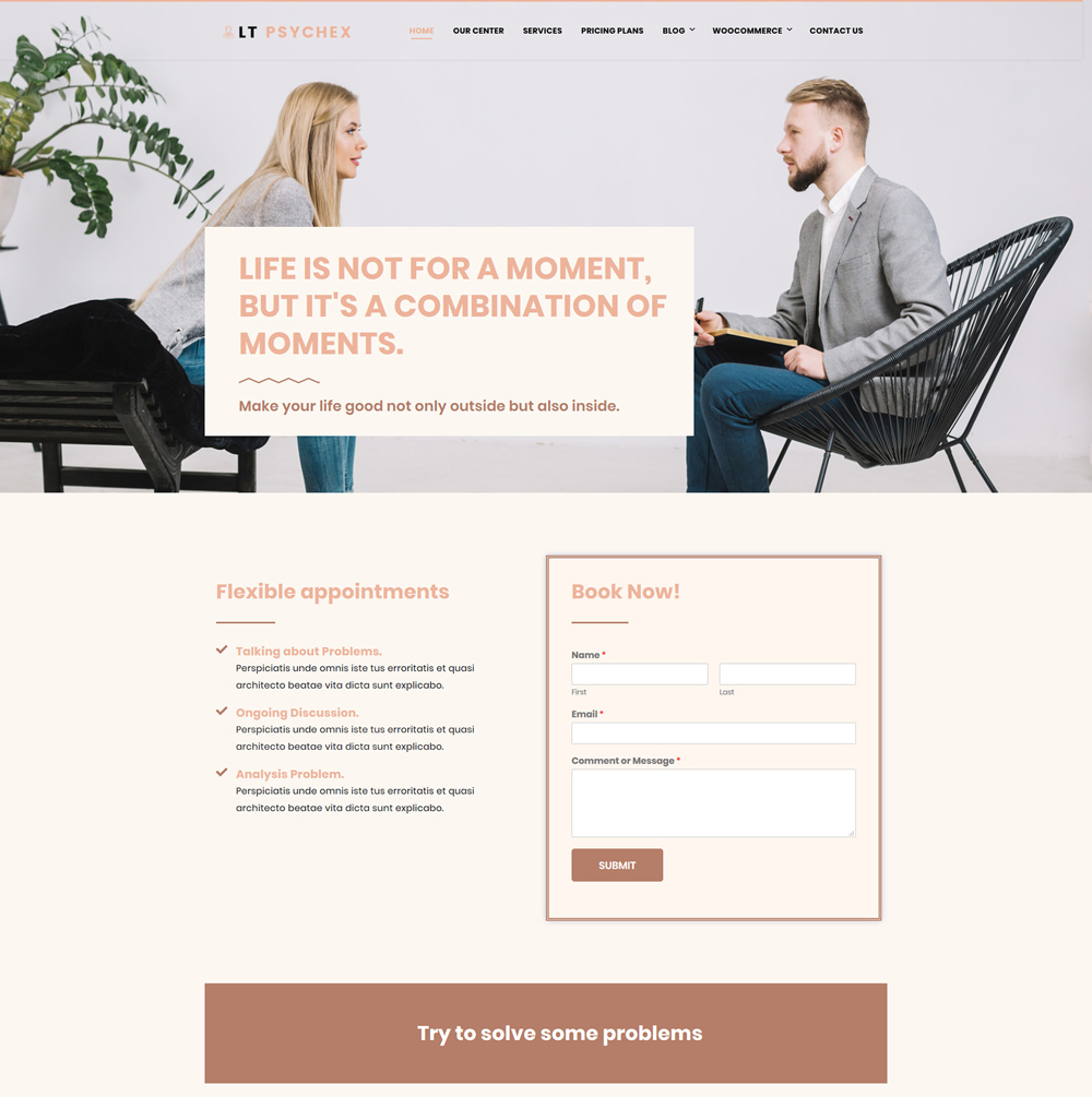 Psychex Wordpress theme