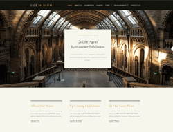 Exhibition WordPress Theme - LT Museum