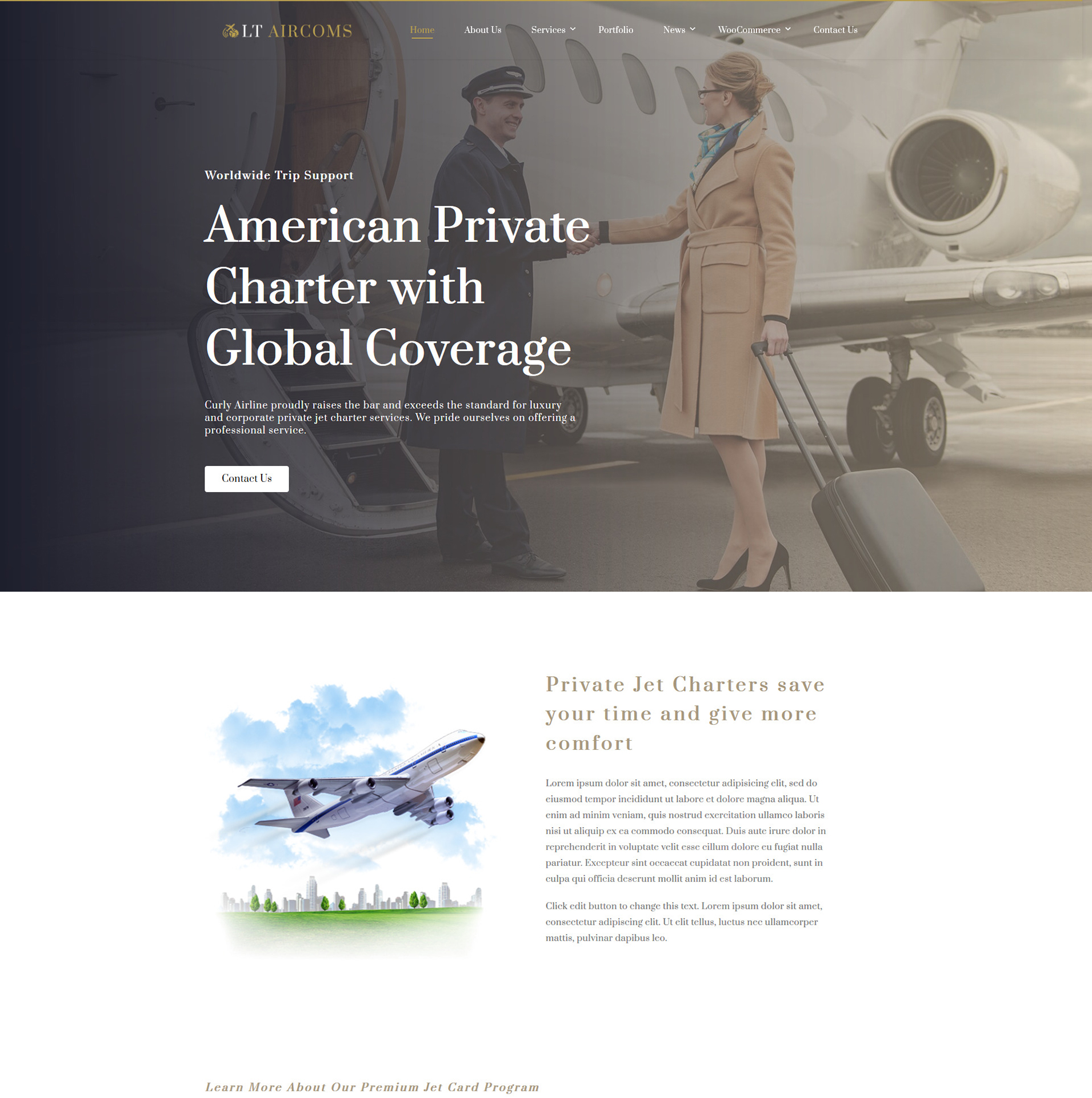 Airline Wordpress theme