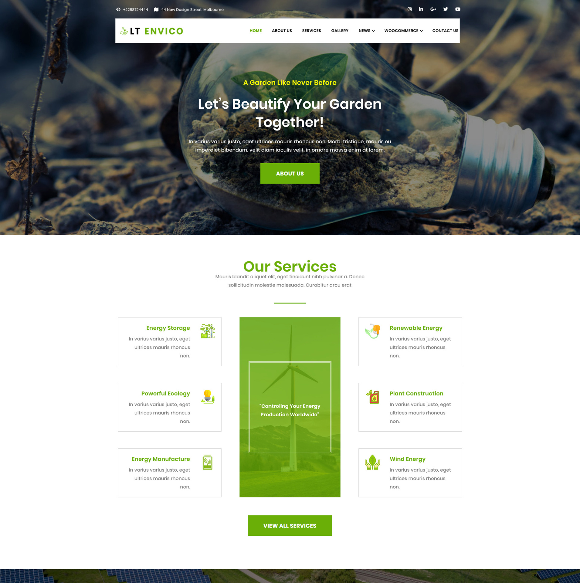 Environment Wordpress theme