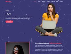 Personal Portfolio HTML Template - Mariya
