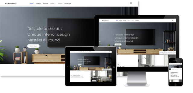 BizTech - Interior Design Joomla Template