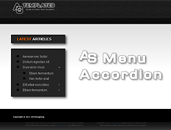 Joomla! 2.5 - 3 Extension - AS Accordion Menu