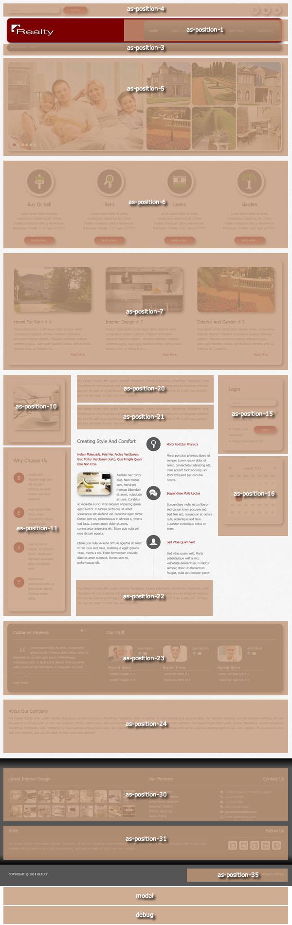 Joomla Template Module Positions
