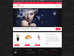 eCommerce Joomla! Template - Boutique Shop PT