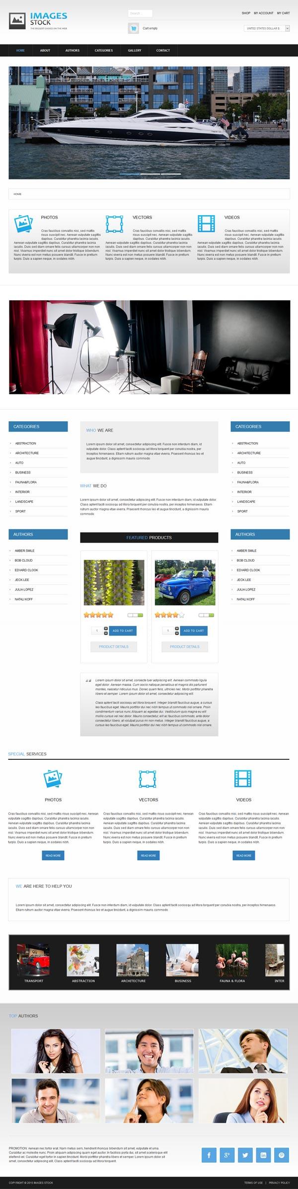 eCommerce Joomla! template